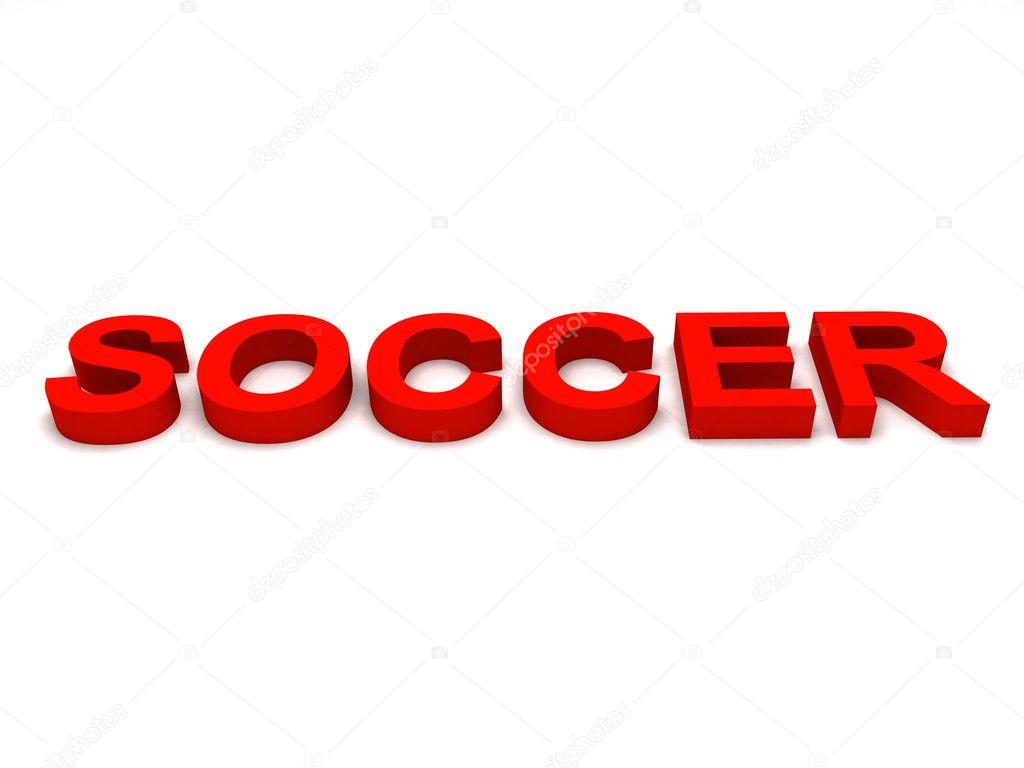 3d Ansicht Des Fussball Word Texte Stockfoto