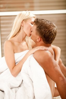 Couple kissing hard in love