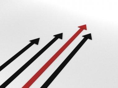 Upwards direction of success arrows