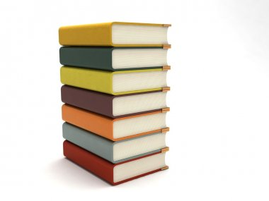 3d rendered bundle of books