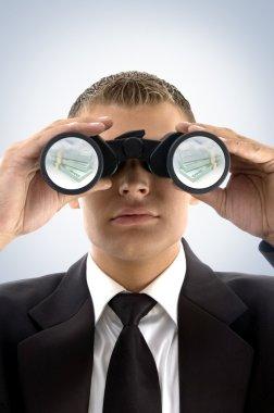 Successful businessman viewing