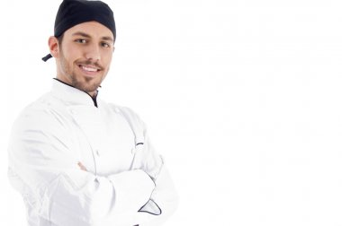 Male chef posing with crossed arms