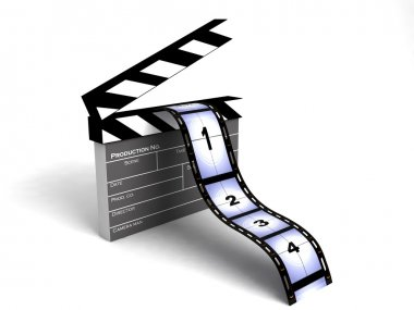 Isolated 3d film stripes