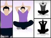 Meditativní póza mladého muže