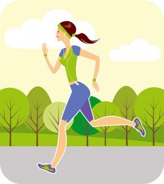 Jogging in summer