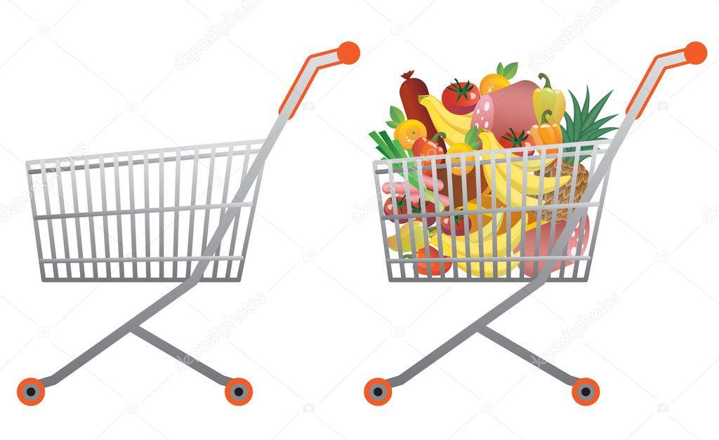 Jumbo Shopping Cart Folding Grocery Cart  Sears