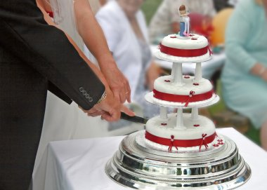 Cutting the Wedding Cake.
