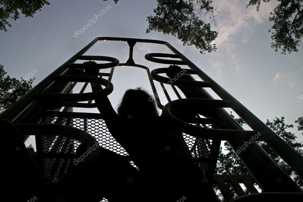 silueta de escalada — Foto de stock © quackersnaps #1390307