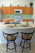 Fotografie Küche mit Barhocker