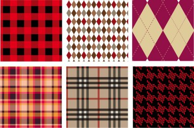 Fashion fabrics, vector