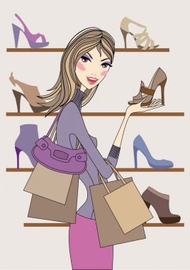Fashion woman with shoes