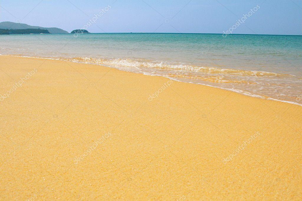 Sea beach as background