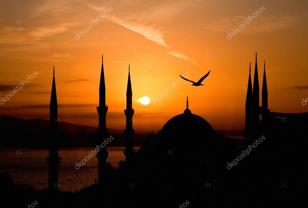 View of Sultanahmet by night, Istanbul