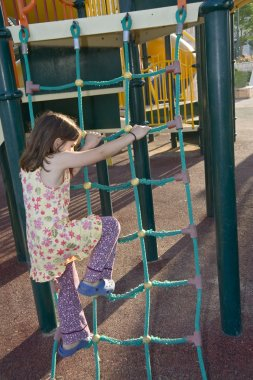 Girl in play ground