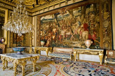 Interior in the castle Fontainebleau