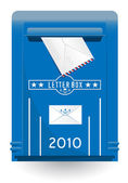 Detailed isolated vector oldstyle mailbo