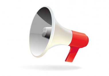 Vector megaphone isolated