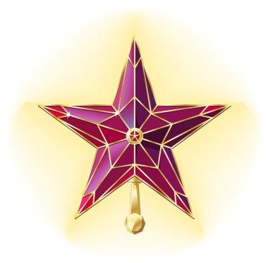 Vector kremlin ruby star