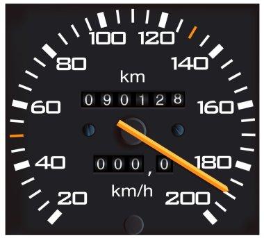 Vector detailed speedometer, easy for ed
