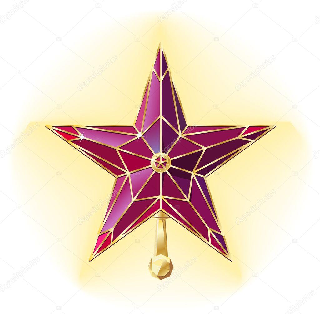 кремлевская звезда картинка для классической