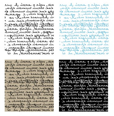 Set of seamless handwriting vector textu