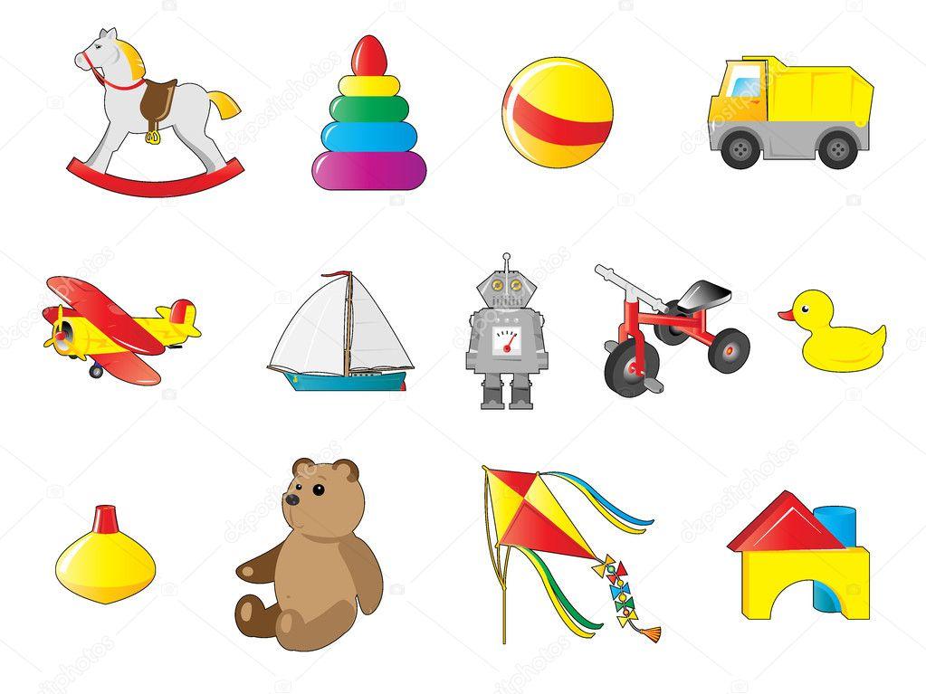 ícones Coloridos De Brinquedos