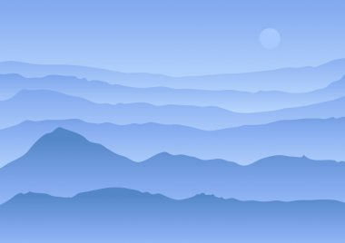 Calm vector landscape
