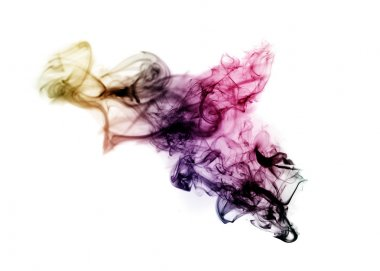Colored with gradient blurred fume