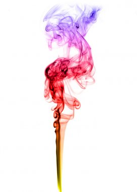 Colored puff of abstract smoke