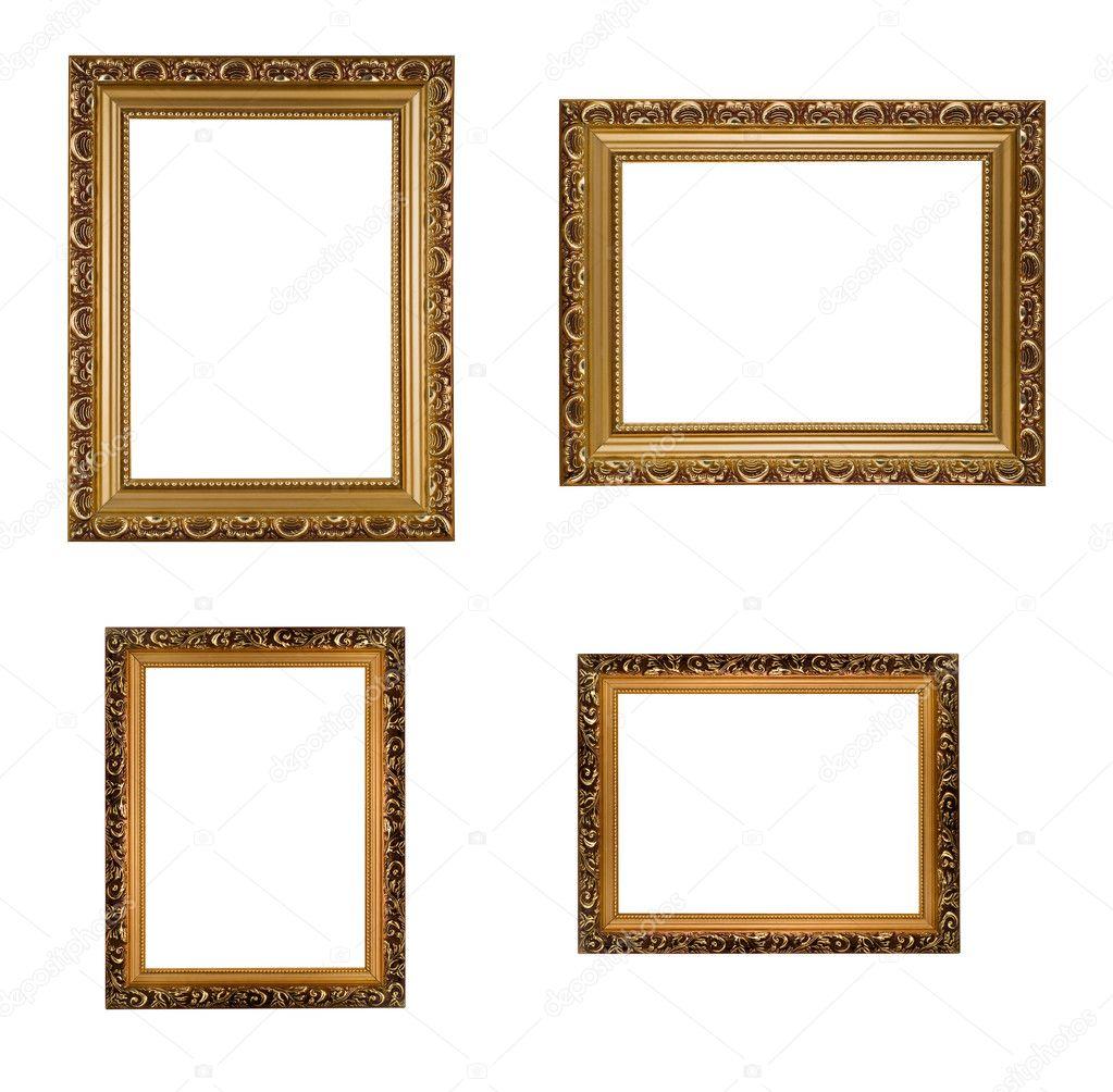 collage de marcos de madera dorados — Fotos de Stock © Arsgera #1364914