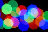 Blurred festive colorful lights