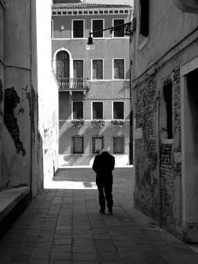 Lonely old man in Italy