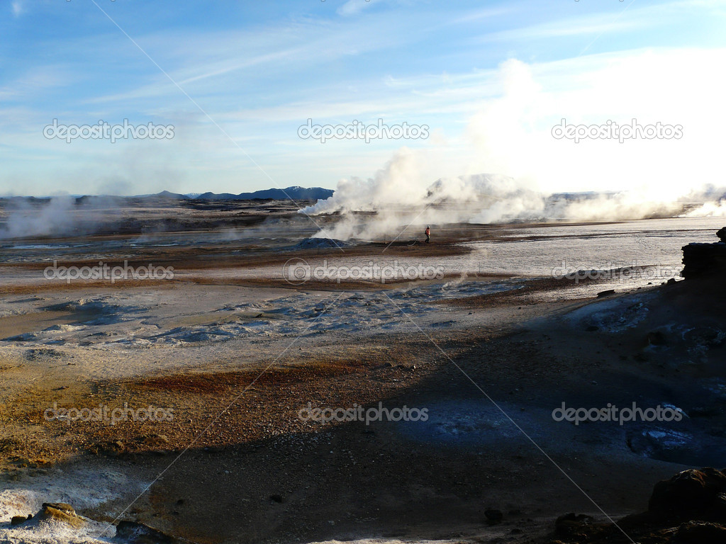 Hverir, volcanic area, Iceland.