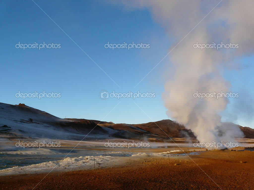 Steam vent at Hverir, Iceland.