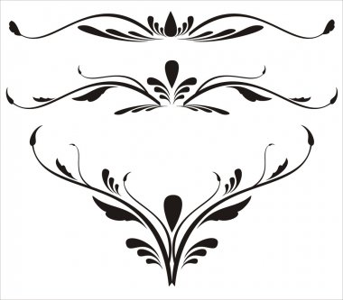 Decorative elements, designs vector