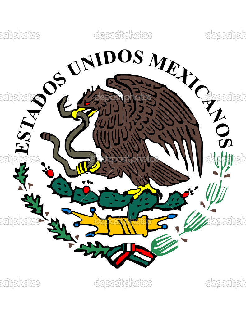 mexican flag symbol u2014 stock vector creactivomx 1377649