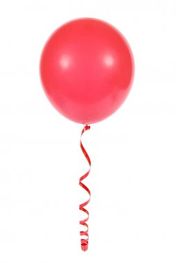 Red balloon isolated on white background stock vector