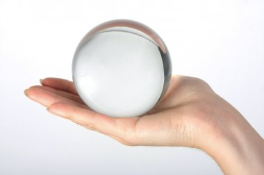 Glass transparent sphere