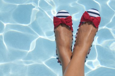 Nautical Shoes at the Pool