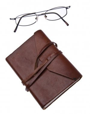 Leather Journal with Glasses