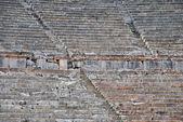 Detailní pohled na řecké antické divadlo