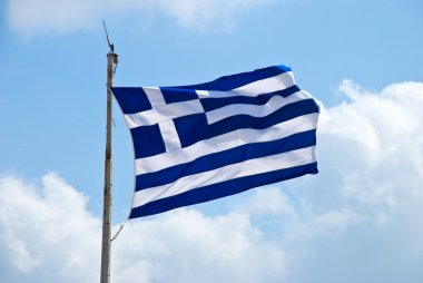 Waving flag of Greece