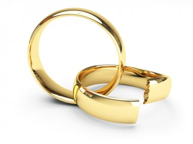 Broken gold wedding rings