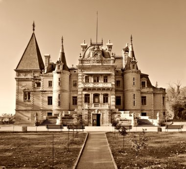 Massandra palace sepia toned
