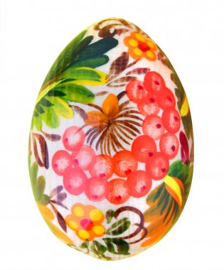 Painted easter egg isolated on white