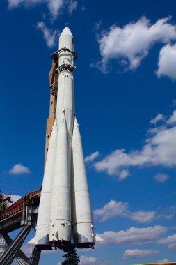 Rocket monument in park