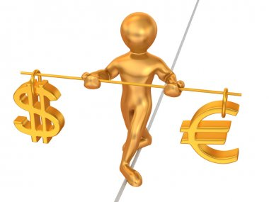 Balance of dollar and eur