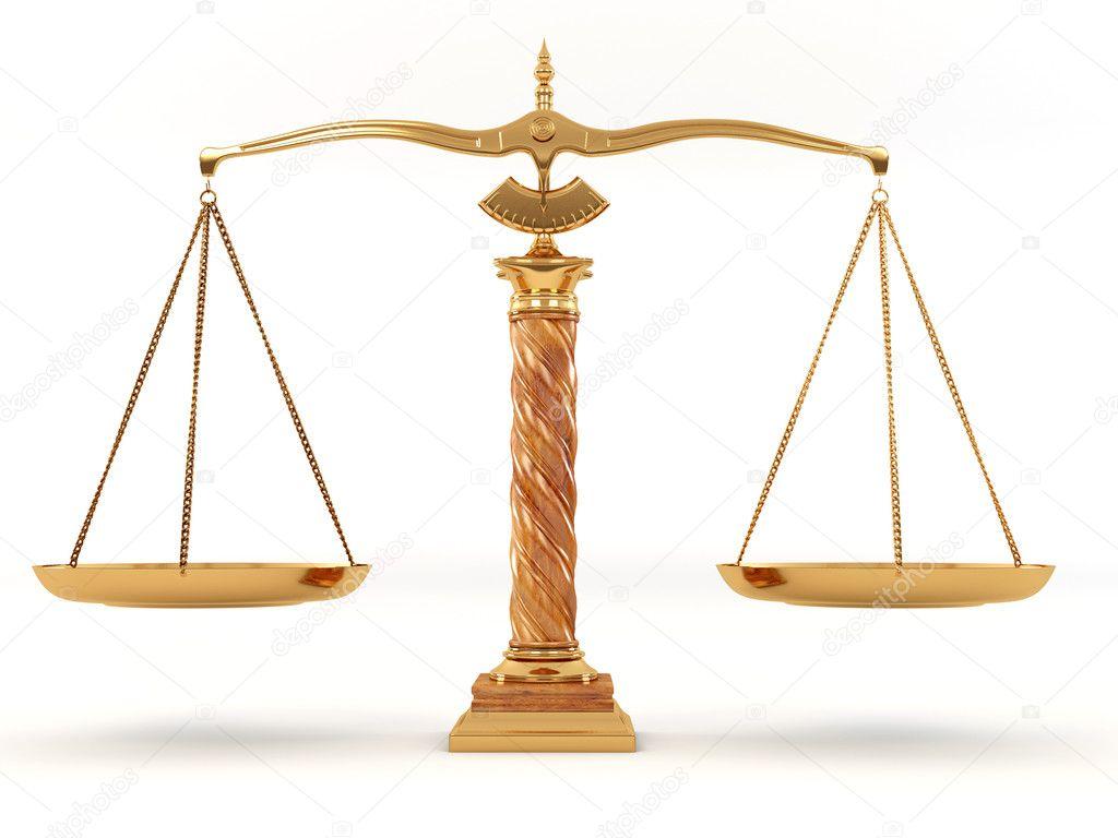 Symbol Of Justice Scale Stock Photo Maxxyustas 2400704