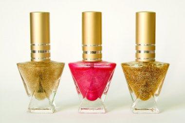 Three bottles with nail varnish