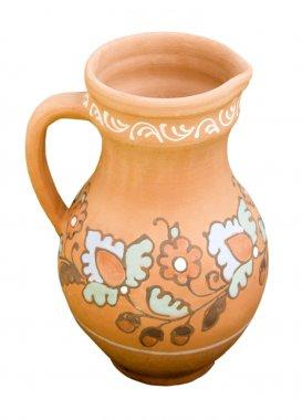 Hand-made clay jug